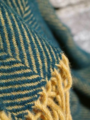 Lifestyle Plaid Herringbone Emerald & Mustard